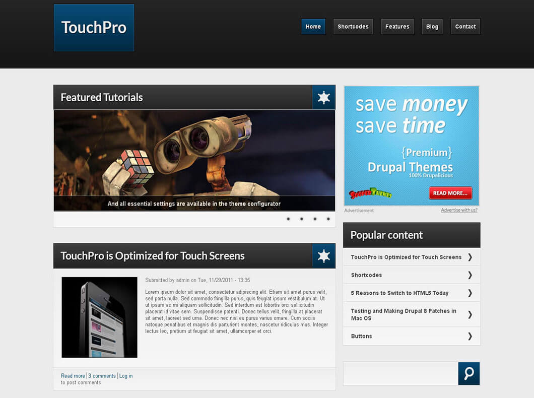 Touchpro Best Responsive Drupal Template