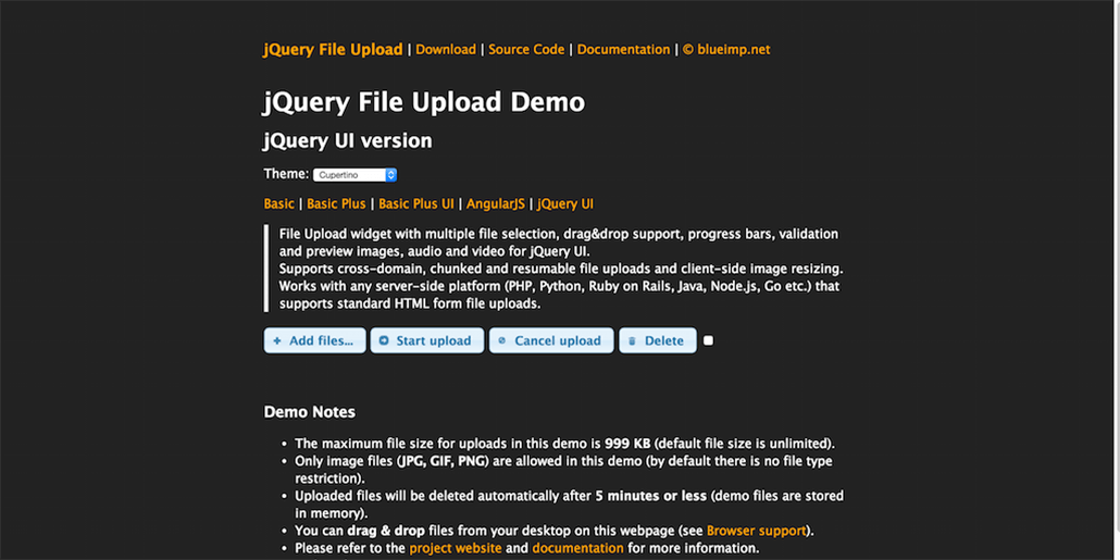 UI version jQuery File Upload