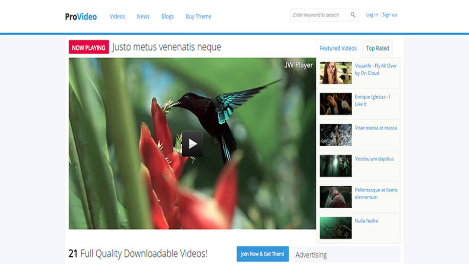 Videos ProVideo Responsive Template