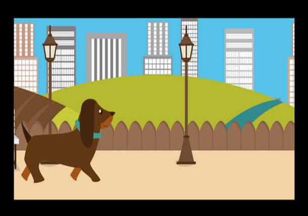Walking Dog SVG Animation Example