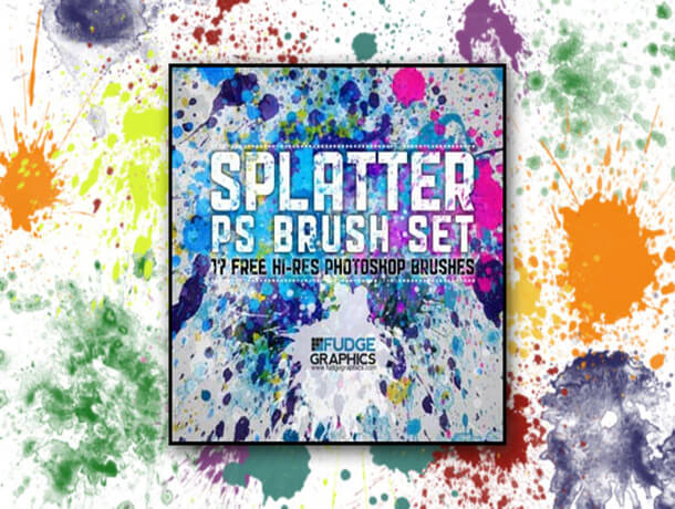 Watercolor Photoshop Best Free Splatter