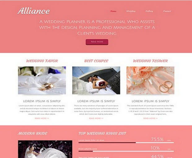 Wedding Best HTML Template