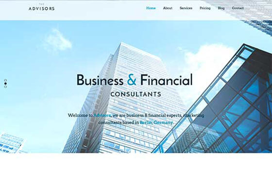 advisors Business WordPress Theme