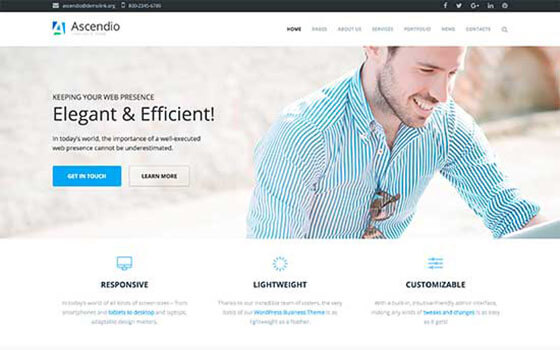 ascendio Business WordPress Theme