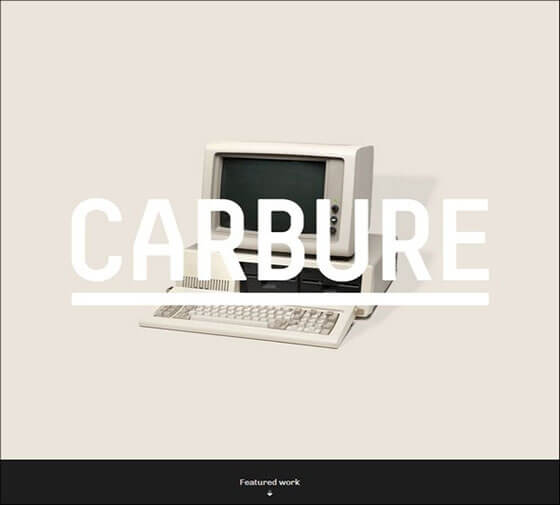 carbure Fixed Navigation Menu