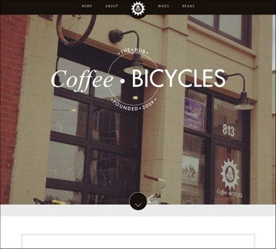 coffee bicycles Fixed Navigation Menu
