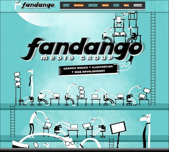fandango Fixed Navigation Menu