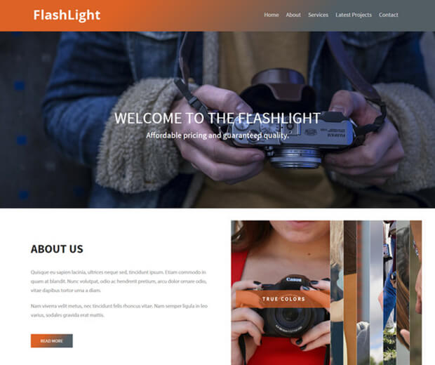 flashlight Responsive HTML5