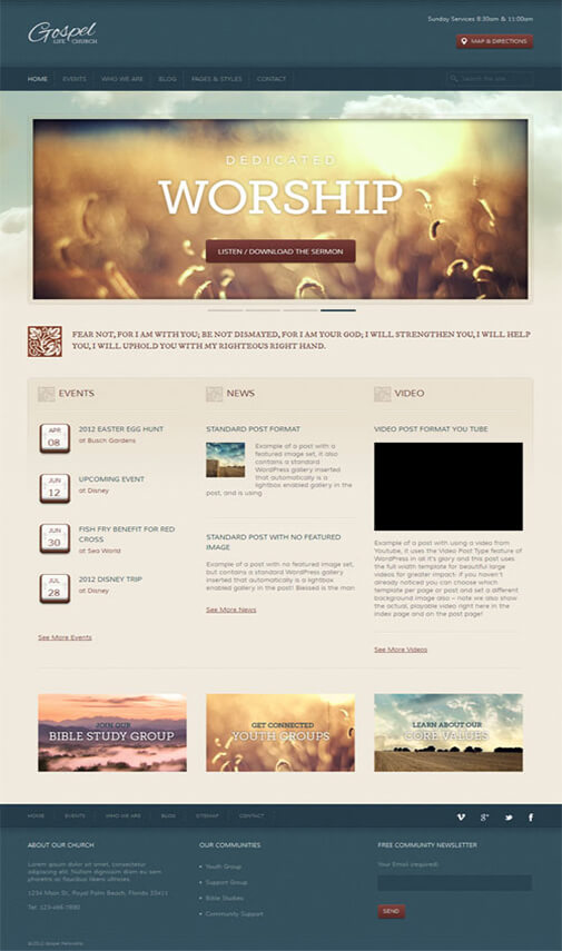 gospel Church WordPress