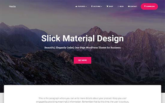 hestia Business WordPress Theme