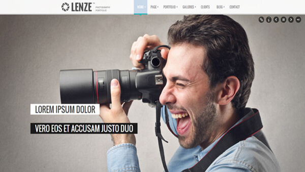 lenze HTML5 Photography