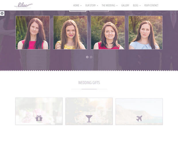lilac template HTML Wedding Website