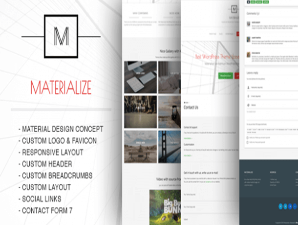 32+ Best Free Material Design WordPress Themes