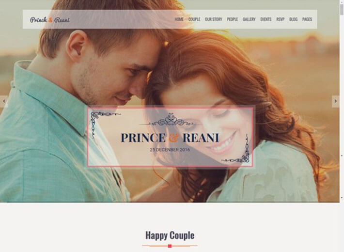 pair Wedding Website
