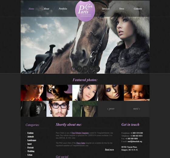 pariz Photography Website