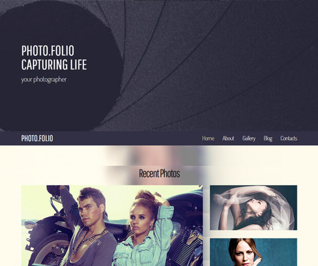 photo folio Website Template