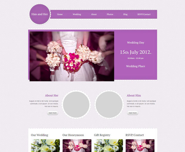 pink wedding Best HTML