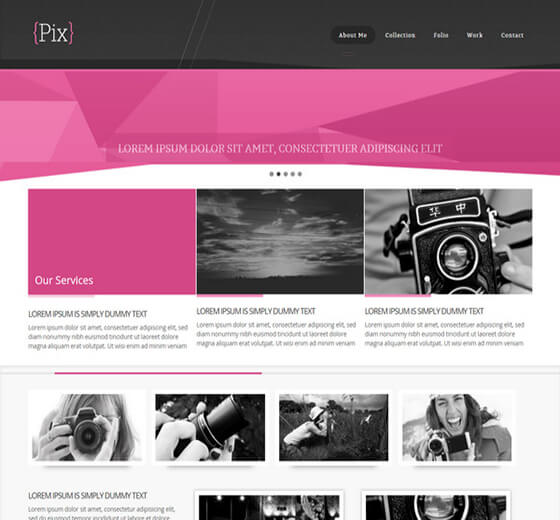 pixz Website Template