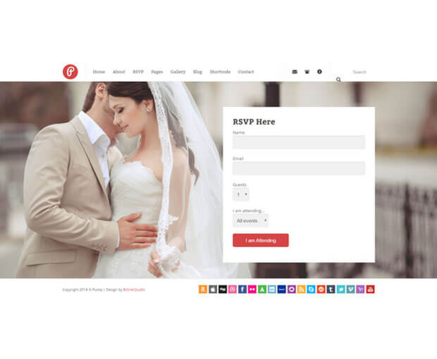pump Wedding Website Template