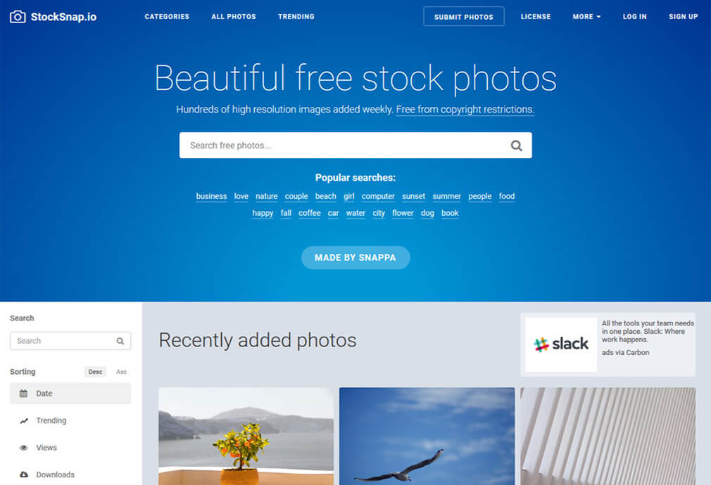 stocksnap Photo Site