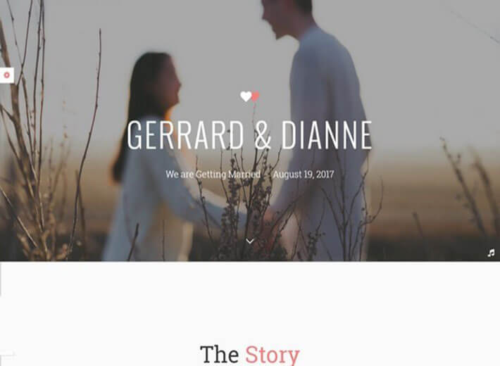story Wedding Website Template