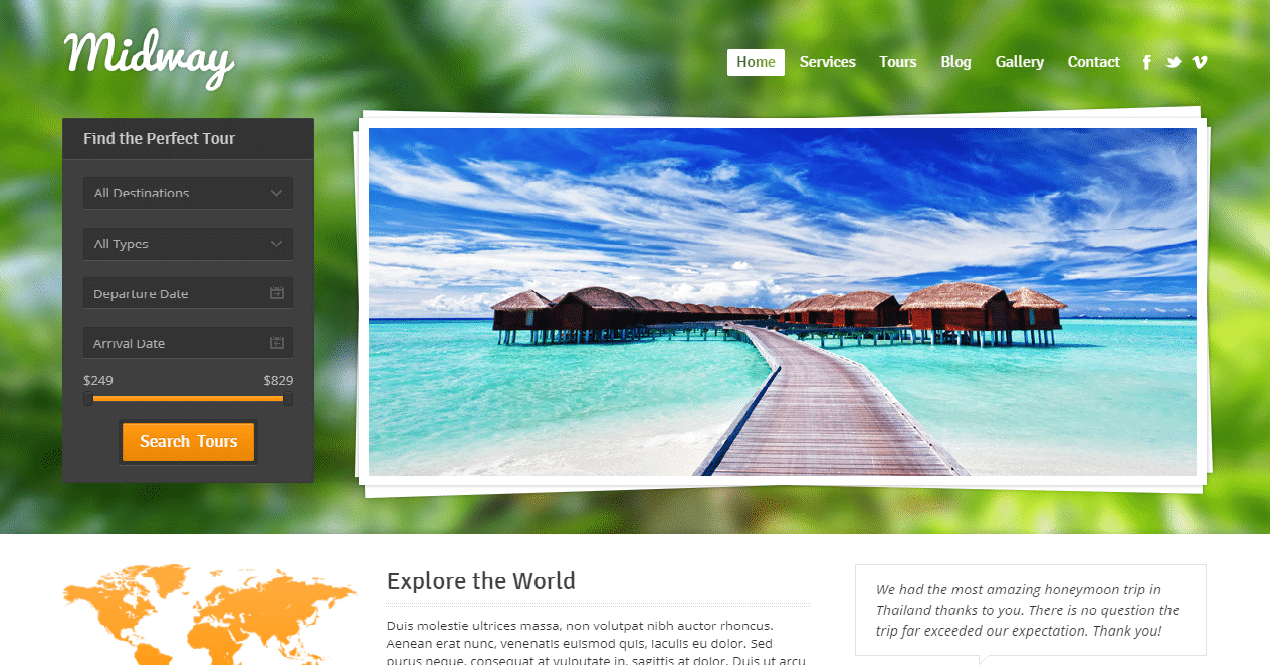 themextemplate Best Responsive Travel