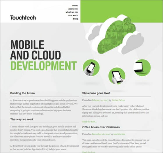 touchtech Creative Example