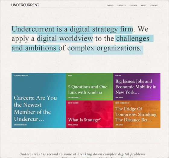 undercurrent Creative Example
