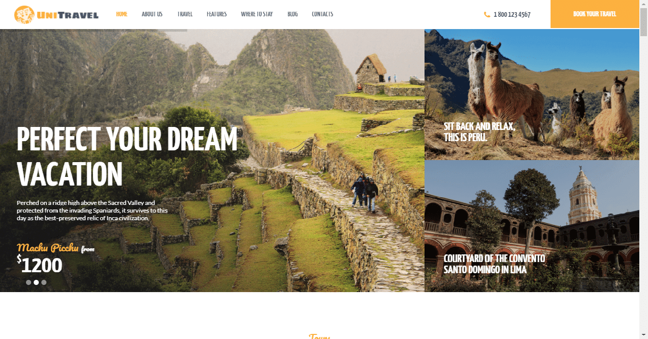 unitravel Best Responsive Travel