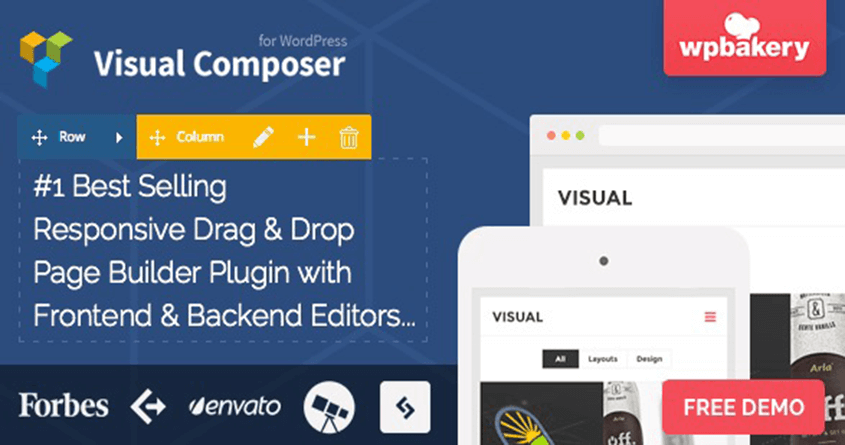 visual composer Drag and Drop
