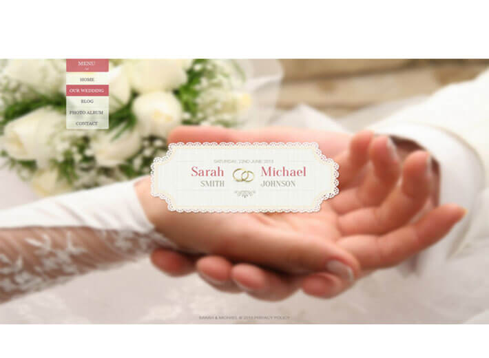 wedding theme Wedding Website Template