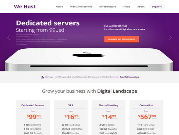 wehost Hosting Template