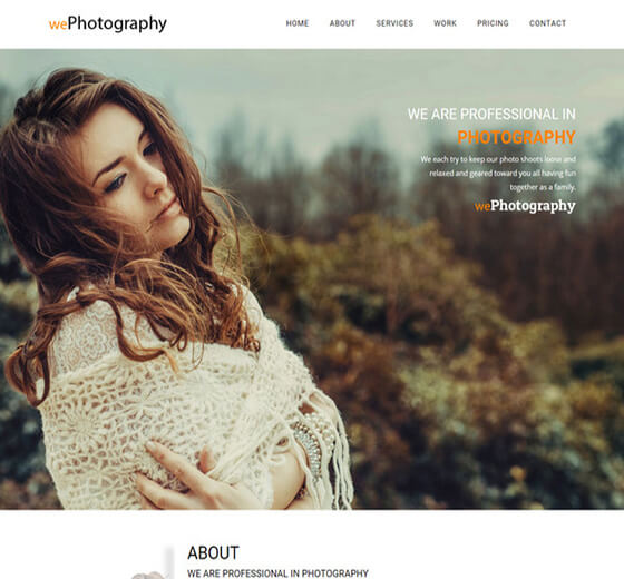 wephotography HTML5 Photography Website