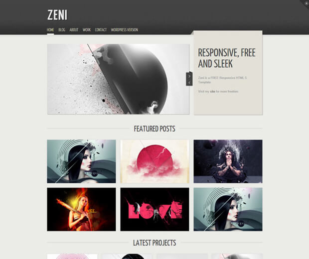 zeniz HTML5 Photography Website