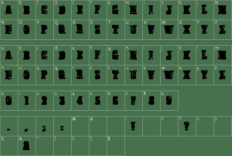 Broadcast Titling Font-map