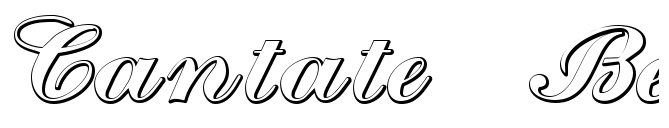 Cantate Beveled Font-preview