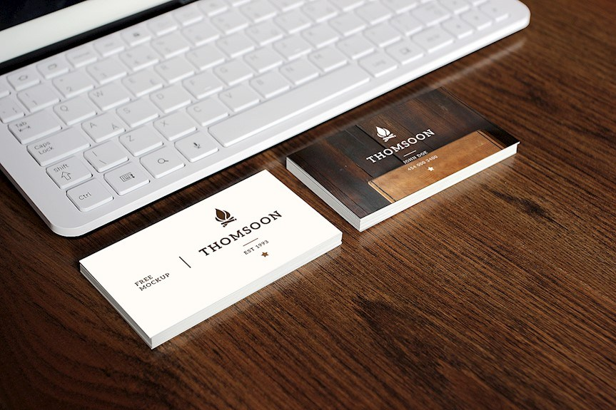 20 awesome business card mockups design free download business card tablet free reheart Image collections