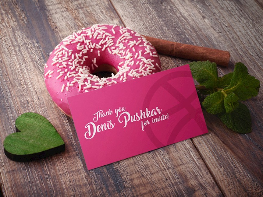 donut business card