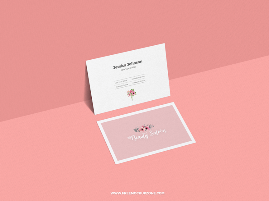 free classy business card mockup for presentation