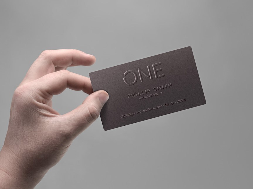 free hand holding business card free
