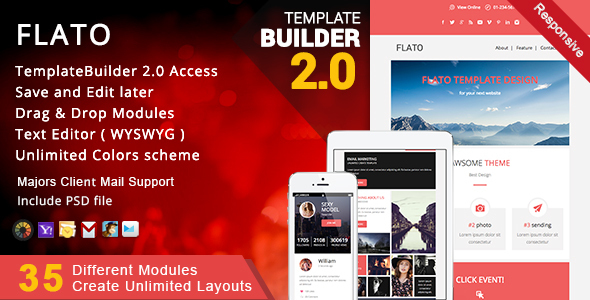 Flato - Responsive Email + MailBuild Online
