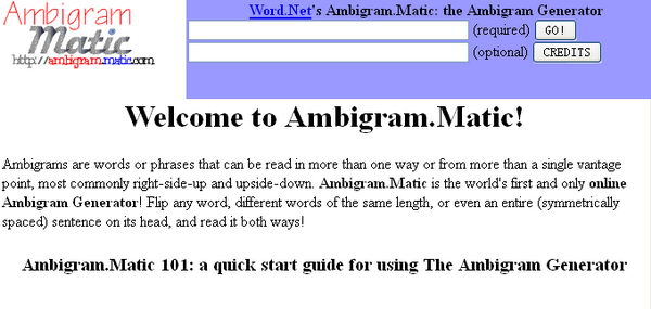Ambigram.Matic - Ambigram Generator