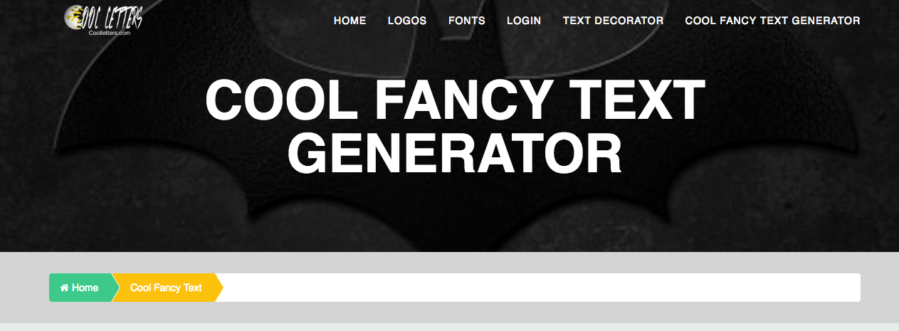 COOL FANCY TEXT GENERATOR