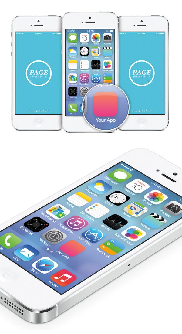 iOS 7 Home Screen  Free PSD Mockup  Photoshop Tutorials