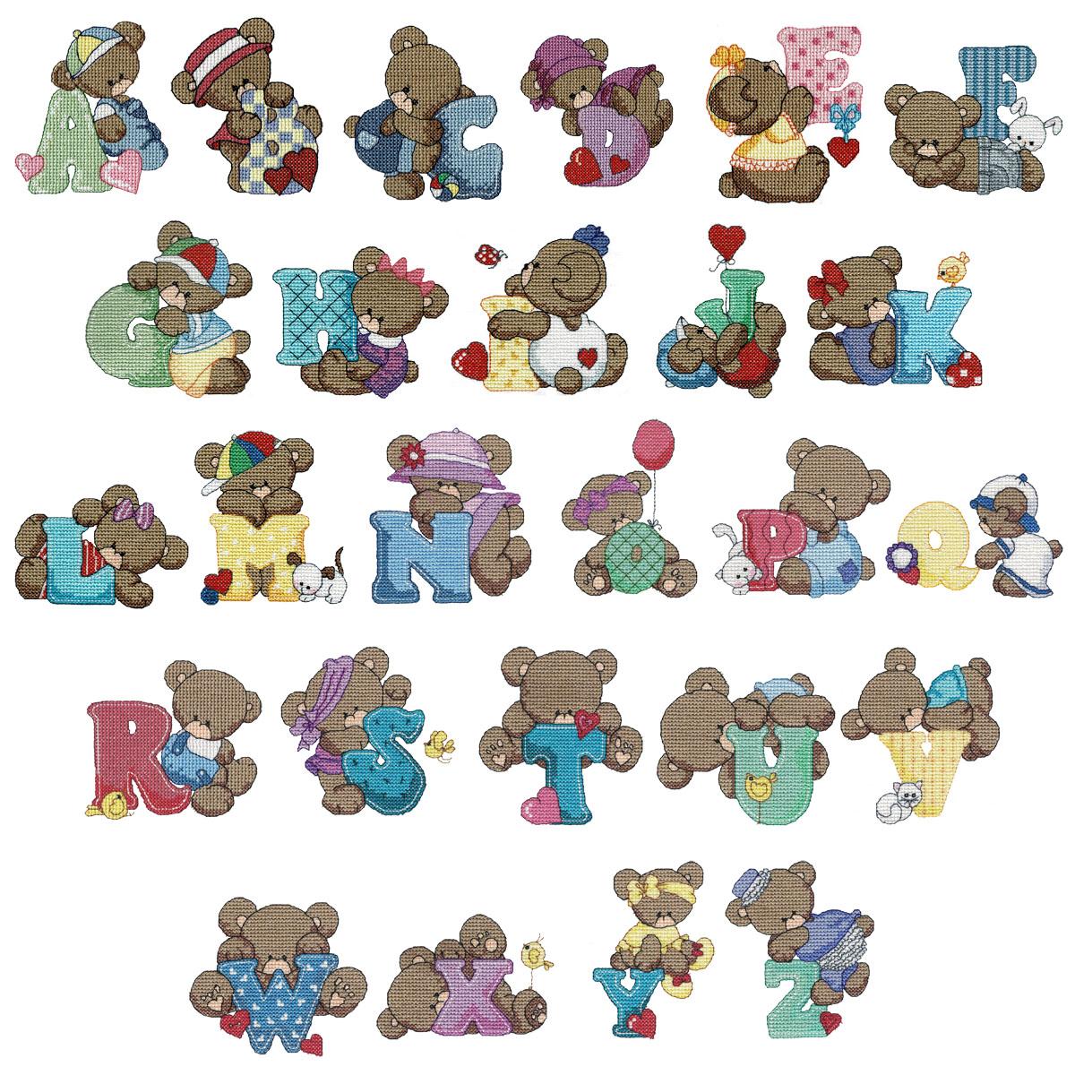 Teddy Bear Alphabet - Design Stash