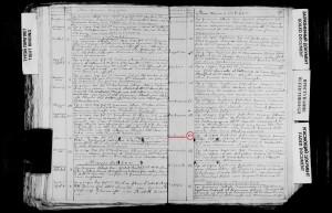 metryki par. Wsielub Joanna Sugojdź 24.10.1797. chrzest. Rachowiec podkrerślone