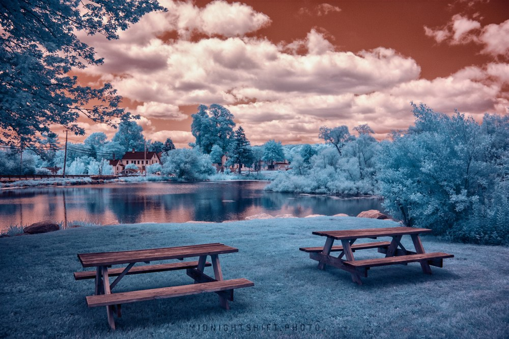 Little Compton, Rhode Island in Super Color Infrared.