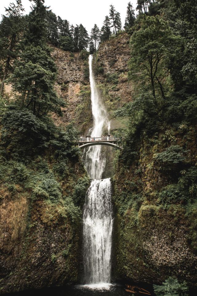 A photo of Multnomah falls in Oregon taken by Caleb Jones