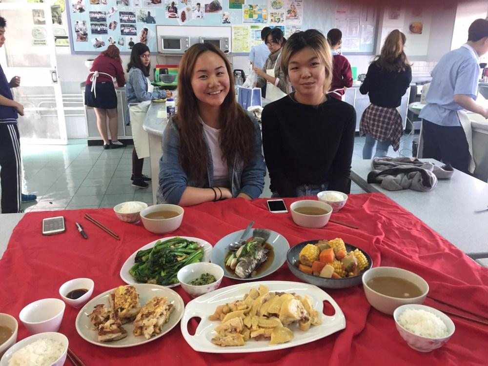 IB Food students CNY meal