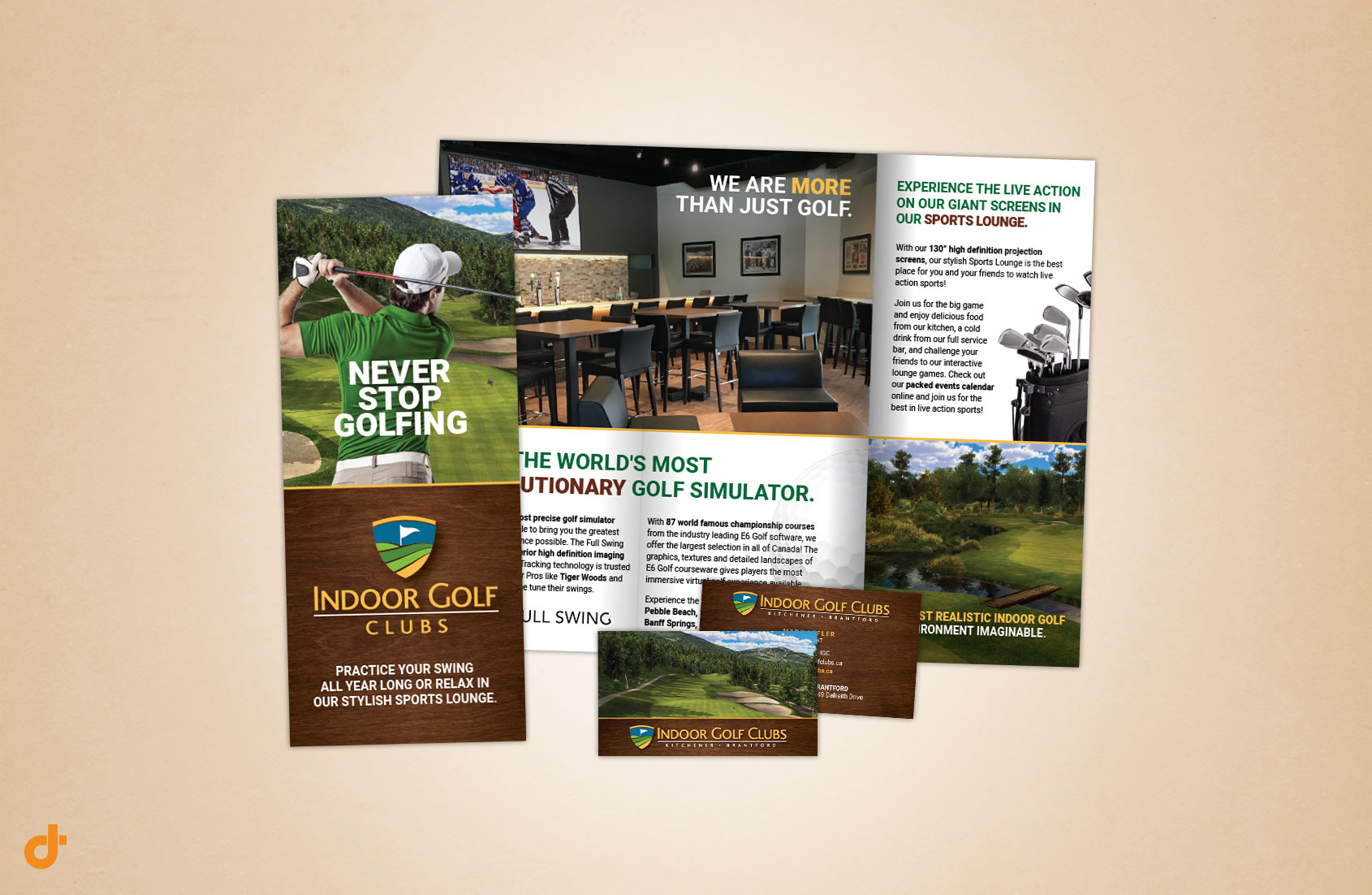 Indoor Golf Clubs Marketing Materials